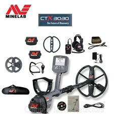 """Minelab CTX 3030 Metal Detector - Land and Water - FREE 6"""" DD Coil & Carry Bag"""