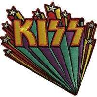 KISS - LOGO WITH STARS - EMBROIDERED PATCH - BRAND NEW - MUSIC BAND 4629