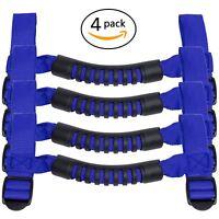 4Pcs Blue Roll Bar Grab Handles Grip Handle for Jeep Wrangler TJ JK JK 1995-2018