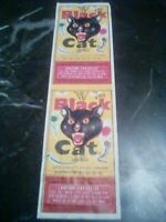 Vintage Firecracker pack Label BLACK CAT 7/8  80s Label Rare See Pix Original