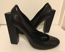 UNITED NUDE Black Patent Leather Block High Heel Round Toe Pumps 7M EUR 37 or 38