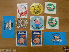 STICKER,DECALS SET ANIMALS VARKENS, PIGS LOT OF ABOUT 10 STICKERS SEE PICTURES