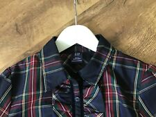 Girls Navy/Red/Green Tartan Blouse By Gap Age 10-11 years