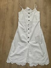 Urban Outfitters White Button Down Strappy Midi Dress Size Medium BNWT RRP £69