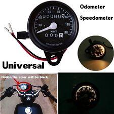 Black New Universal Motorcycle Dual Odometer Speedometer Gauge Meter Backlight
