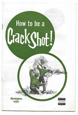 1975 Remington Rifle Booklet ~ HOW TO BE A CRACK SHOT!
