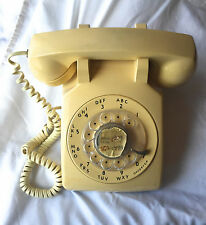 Old Western Electric  Rotary Dial Desk Phone 1960's  ivory  WORKS
