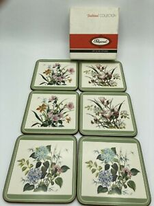 Vintage Pimpernel Six Traditional Coasters Wild Flowers