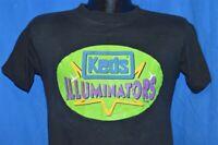 vtg 90s KEDS ILLUMINATORS LIGHT UP SNEAKERS NEON BLACK COTTON t-shirt SMALL S