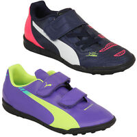 Boys Football Trainers PUMA Kids Evo Power Speed Astro Turf Sports Shoes Fashion