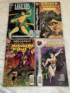 Wonder Woman Comic Lot: Legends 5 , Annual 7, 8, 1,000,000
