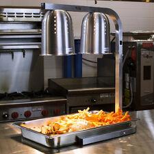 NEW! Adjustable Avantco Free Standing 2 Bulb Heat Lamp + Food Warmer Industrial