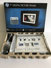 "HP 7"" Digital Picture Frame df730v1 Dark espresso wood frame"