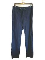 Banana Republic Martin Fit Linen Blend Navy Pants sz 6