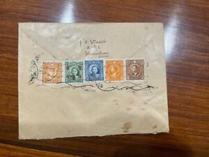 China ROC Shanghai to Holland Registered Airmail Cover