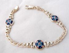 Blue Chain Sterling Silver Fine Bracelets