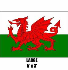 Wales Welsh Large Dragon 5 X 3ft Fans Supporters Flag Quality Eyelets