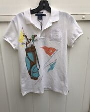 New With Tags Womens Ralph Lauren Golf Polo Medium M White