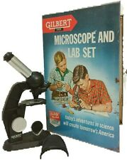 Vintage 1959 Gilbert Microscope And Lab Kit #13072