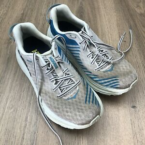 Hoka Womens Running Shoes Eu 40 Well Loved White Blue New Insoles