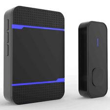 TeckNet WA878 Plug-In Wireless Doorbell Kit - Black