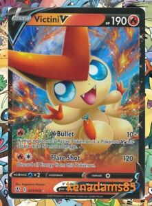 Pokemon SWSH5 Battle Styles Victini V Ultra Rare Card 21/163
