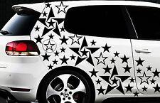 93-teiliges Sterne Star Auto Aufkleber Set Sticker Tuning WANDTATTOO Blumen x