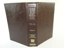 The Laws of Manu: The Sacred Books of the East Vol. 25 Hardcover 1988 (English)