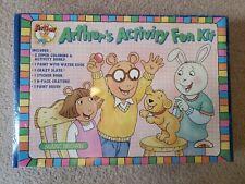 Vtg Pbs Kids Arthur's Activity Fun Kit Set Sealed Stickers Books Paint Coloring