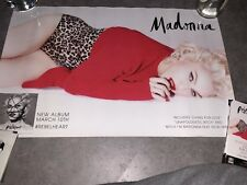 Madonna Rebel Heart Japan In-store Promo Double Sided Poster MDNA SKIN Tower