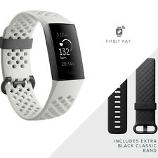 Fitbit Charge 3 Heart Rate + Fitness Band Activity Tracker Graphite/White SE
