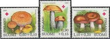 Mushroom Hair Milk Cap Russule Boletus Finland Red Cross Mint Stamps MNH 1980