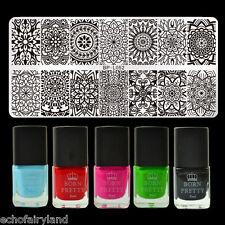 6pcs/set Mandala Floral Nail Art Stamping Polish Set Stamp Image Stencil Plates