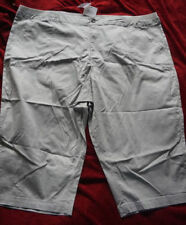 Loose Fit Cotton Capris, Cropped Pants for Women