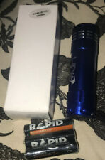 NEW NIB Blue Travel Size LED Flashlight+Batteries+Strap Great for Safety