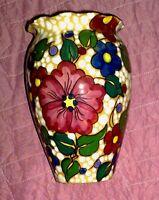 VASO ALBISSOLA D'EPOCA in ceramica smaltata  C.A.S