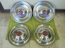 "46 47 48 Chevy 16"" Accessory HUBCAPS Set 4 Wheel Covers Hub Caps 1946 1947 1948"