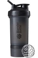 Blender Bottle ProStak System 22 Oz Shaker Full Color Black Twist & Lock Storage