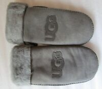 UGG Gloves Classic Sheep Shearling Logo Mittens L/XL Grey