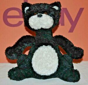 "Russ Berrie ""Scratch"" Black & White Long Neck Cat . 9"" Soft Toy"