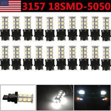 20X Pure White 3157 5050 18SMD LED Car Tail Brake Stop Light 3156 3057 3457 US