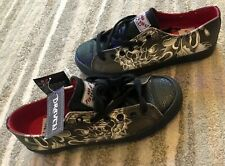 Draven Tokyo Hiro Tatakai Irezumu Tattoo Leather Men's Skate Shoes Sneakers 7.5