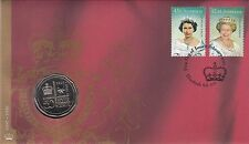 Coin Australia 50c Queen QE2 Access PNC 2002 post office cover scarce