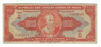 1000 Cruzeiros Brasilien 1949 C104 / P.149 - Brazil Banknote Scarce!