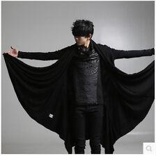 Mens Dark Gothic Cardigan Batwing Sleeve Irregular Loose Cloak Long Jacket Punk
