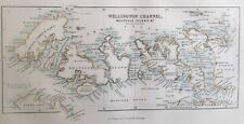 1856 Antique Map; Wellington Channel, Melville Island, etc. Canada