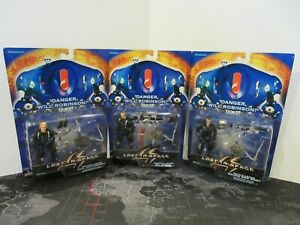 Lot of 3 Lost In Space Figures Trendmasters 1997 NIP Armor Don West Dr Smith +