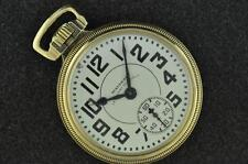 VINTAGE 16S WALTHAM 23J VANGUARD POCKET WATCH FROM 1932 KEEPING TIME