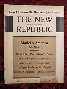NEW REPUBLIC October 1 1966 Stanley Kauffmann Jules Witcover James Deakin