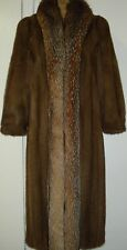MAXIMILIAN BLOOMINGDALE'S Crystal Fox & Mink Fur Coat Size 8-10 Free Shipping